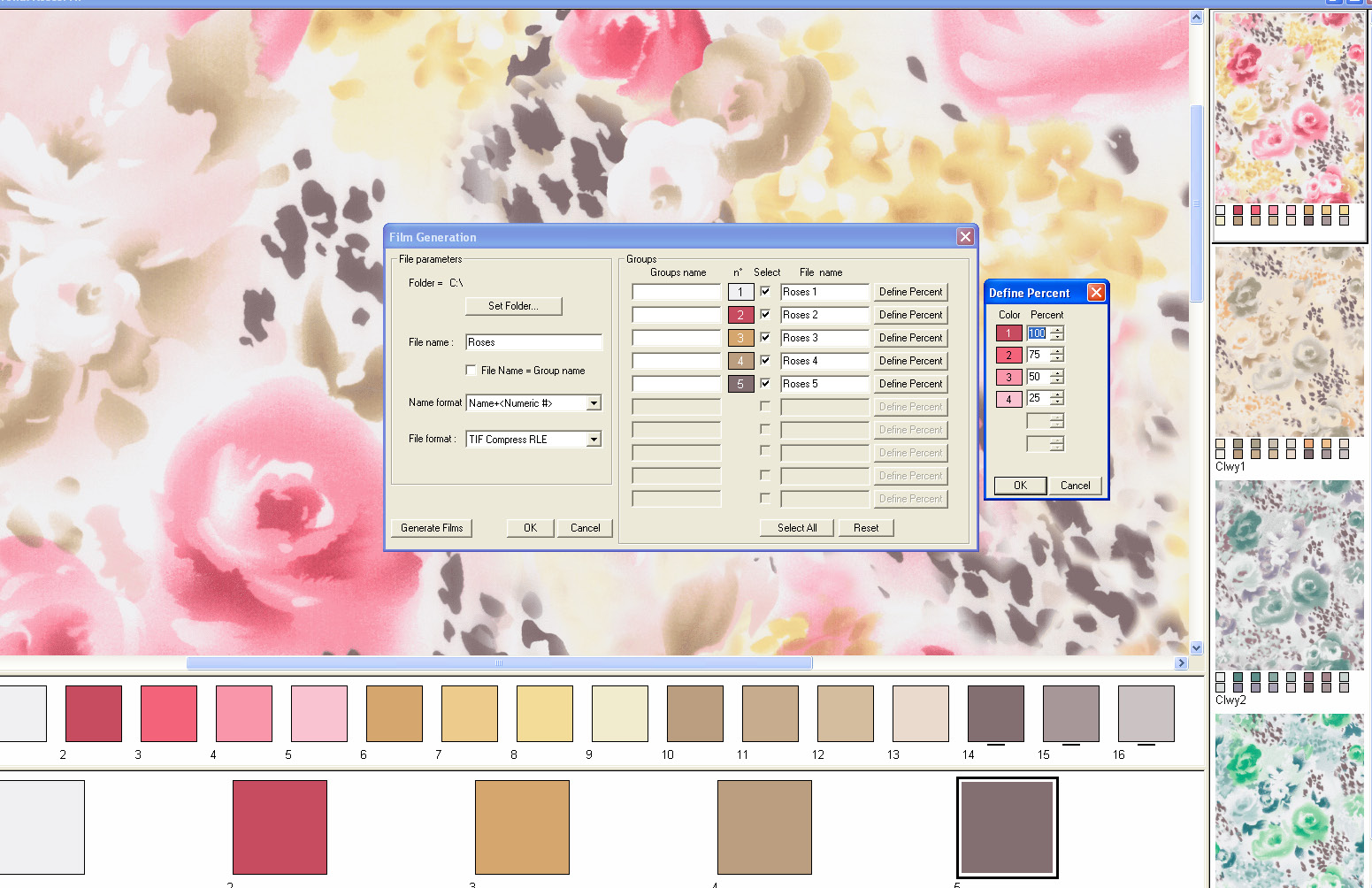 screen shot showing how to export color separations for manufacturing