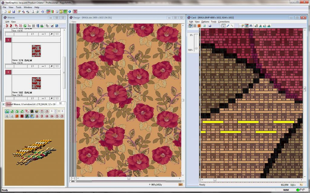 Screenshot of float correction in Jacquard