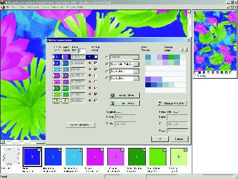 screenshot of automatically converted design colors saved to color standards