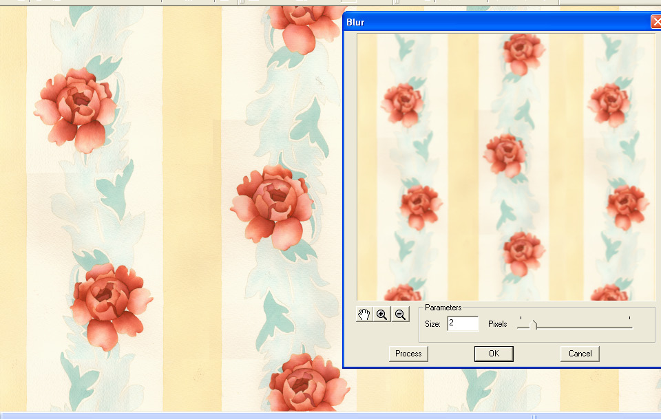 screen shot demonstrating how several image filters can be applied to a scan
