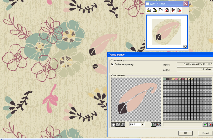 screen shot showing how to apply color transparency to any object