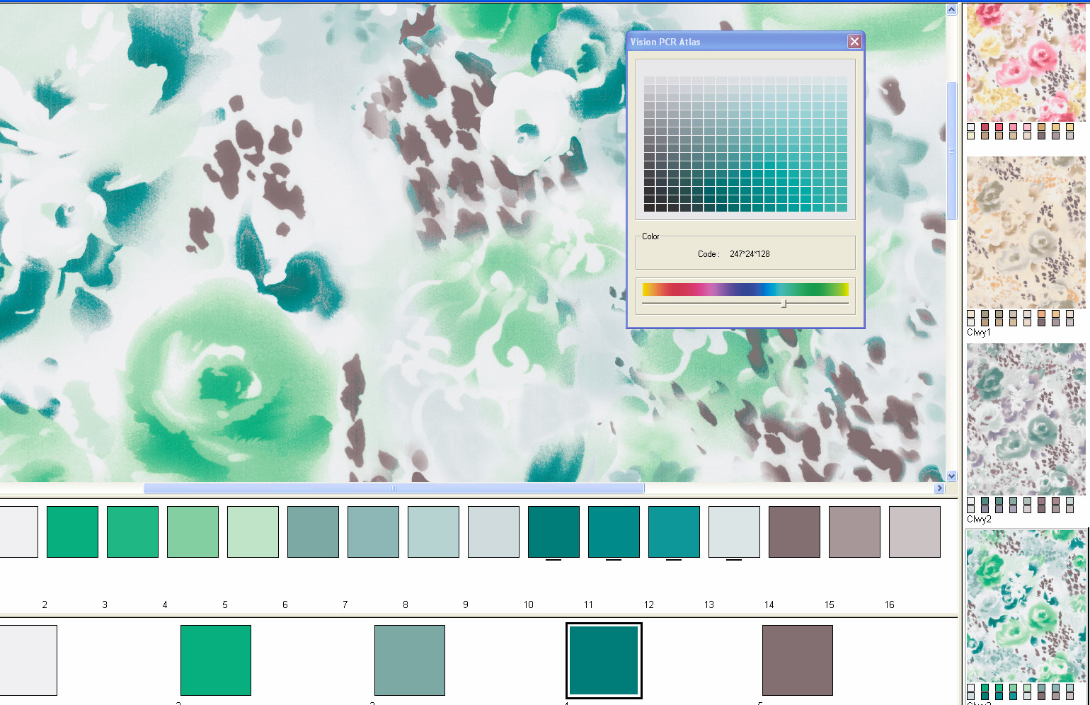 screen shot showing how to create unlimited custom color palettes per season or collection