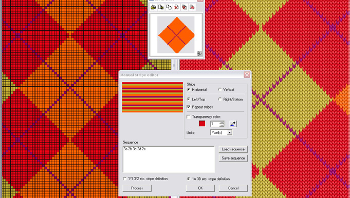Screenshot of example of Easy Knit