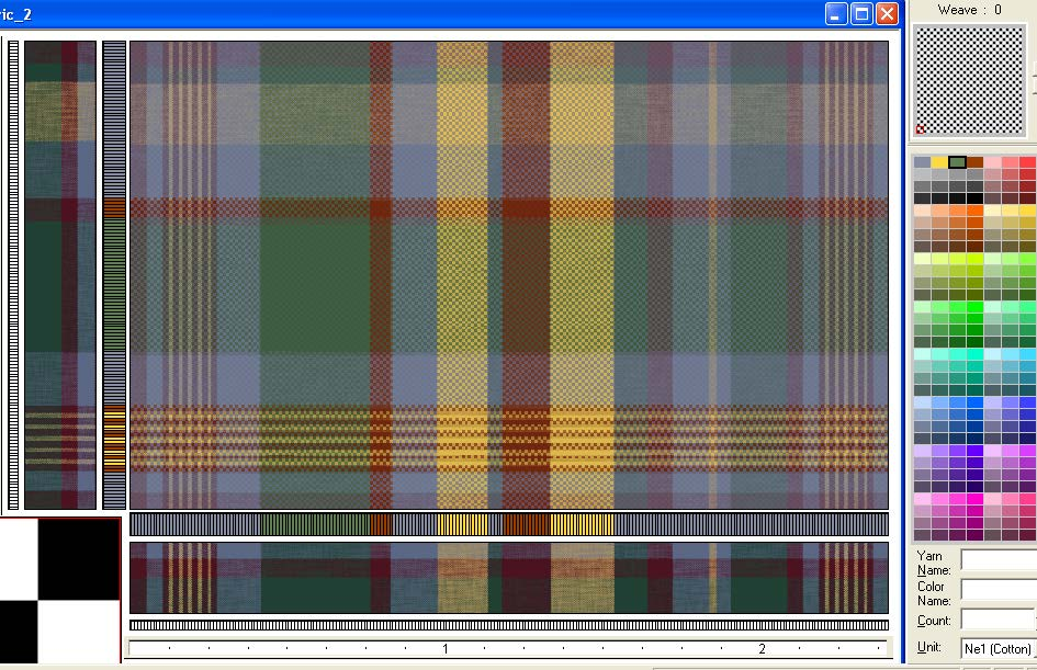screen shot demonstrating how to view plaid fabric scan as layer for reproduction